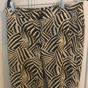 Zebra print pants- great condition